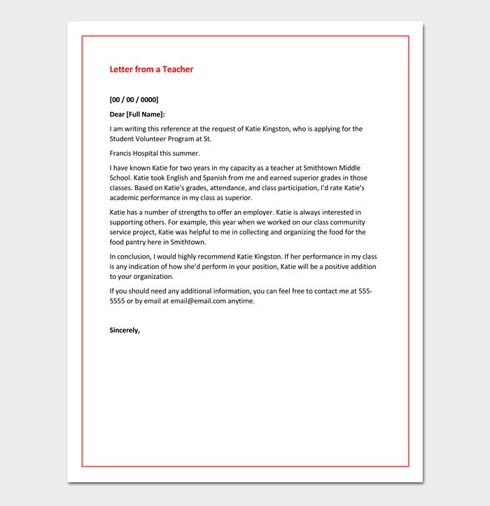 Academic Recommendation Letter - 4+ Samples & Printable Formats