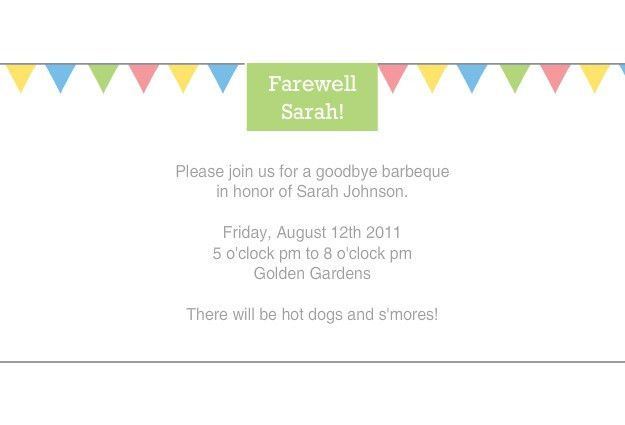 Simple and Colorful Farewell Party Invitation Card with Colorful ...
