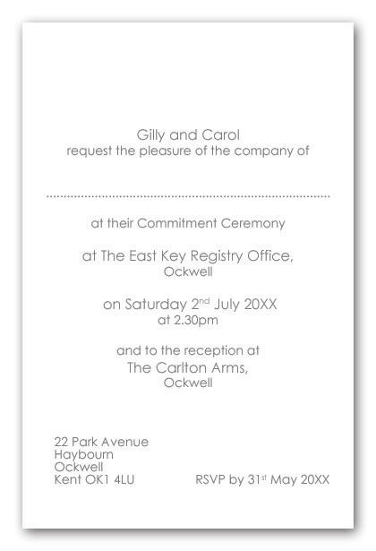 Reception Only Invitation Wording | alesi.info