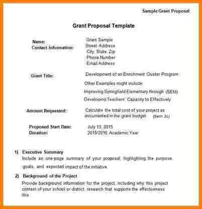 Grant Proposal Template. Budget Proposal Examples Sample-Grant ...