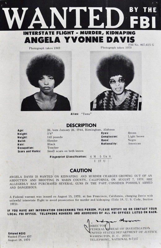 Trailing Angela Davis, from FBI Flyers to 'Radical Chic& ...
