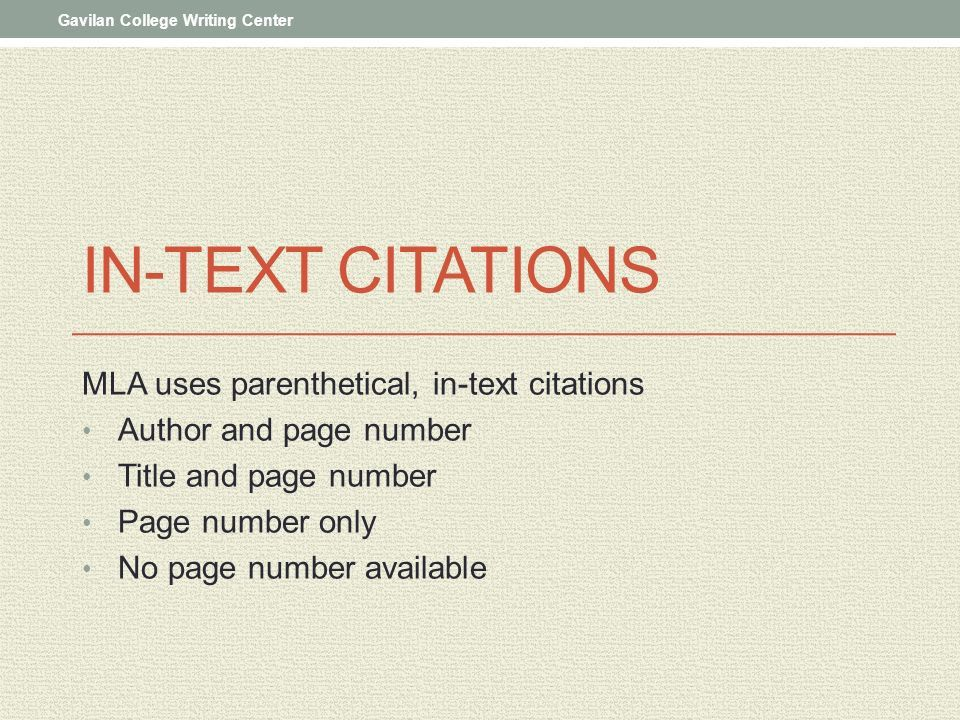 In-Text Citations and Works Cited - ppt download