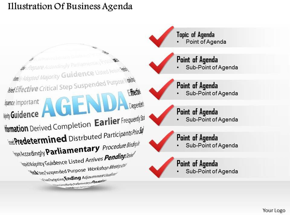 0714 Business consulting Illustration Of Business Agenda ...