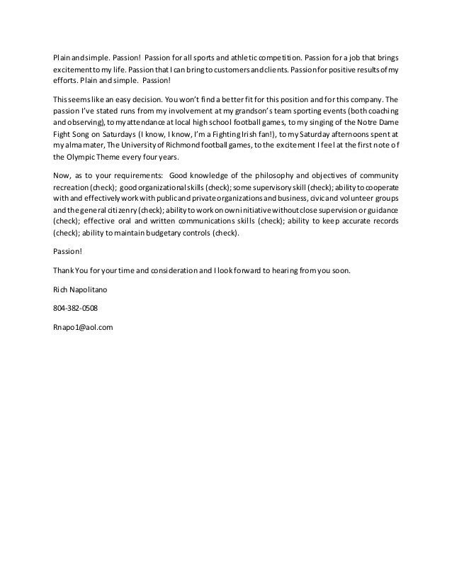 Athletic Business Manager Cover Letter