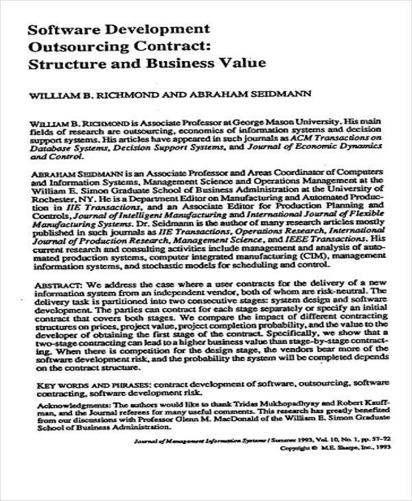 Software Development Contract Template. endorphin software ...