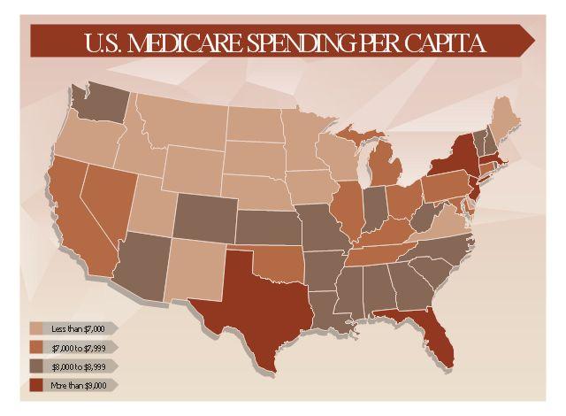U.S. Medicare spending per capita