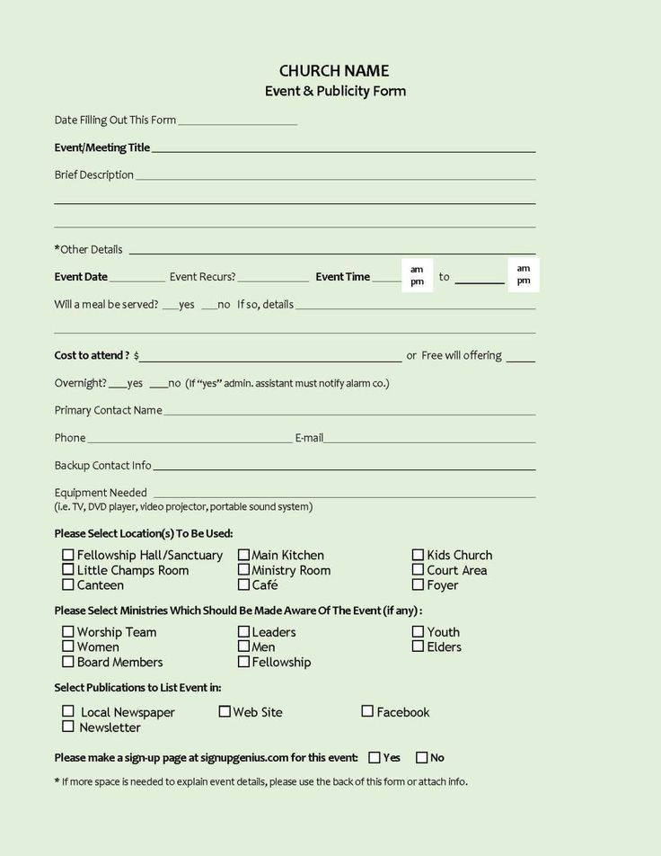 41 best Forms images on Pinterest | Church nursery, Youth ministry ...
