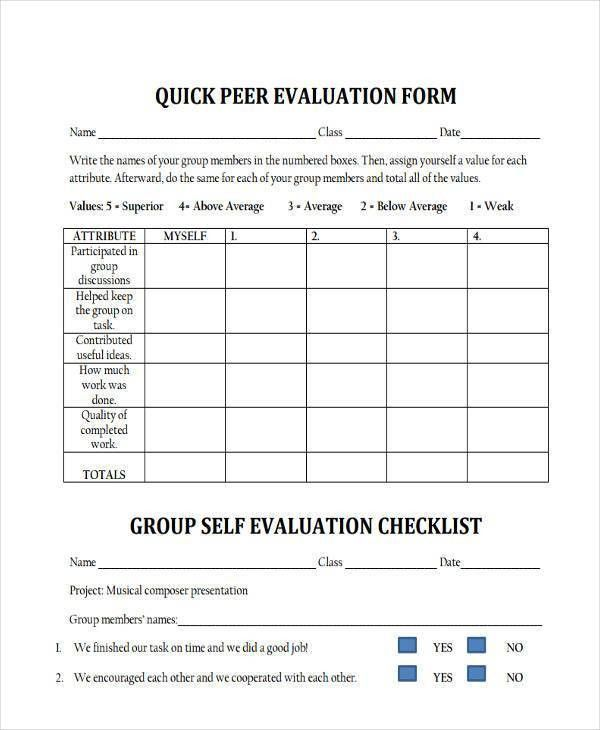 Evaluation Form. Employee Evaluation Form Download Employee ...