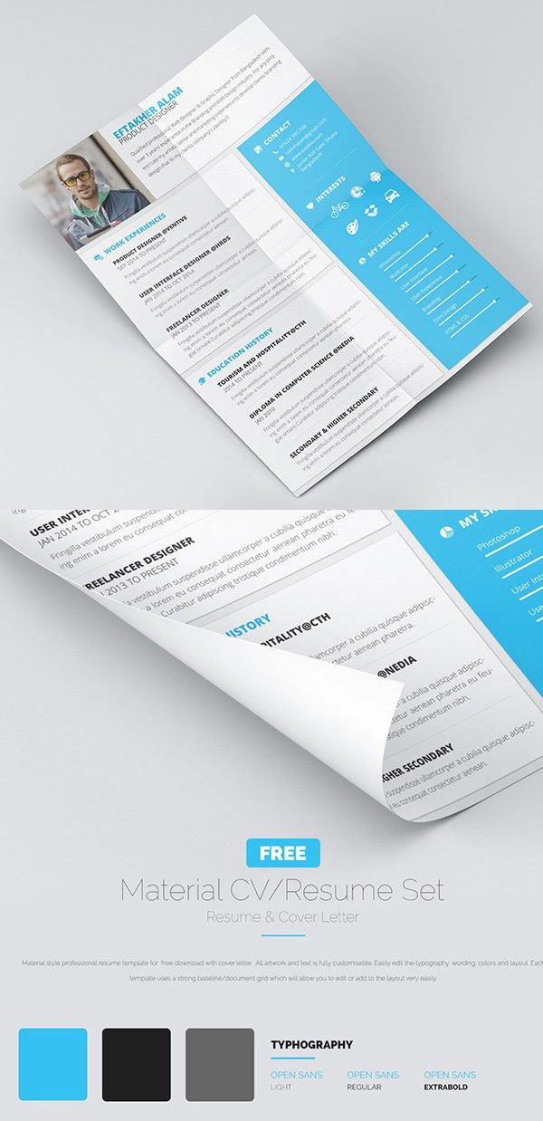 15 Free PSD CV/Resume and Cover Letter Templates | Freebies ...