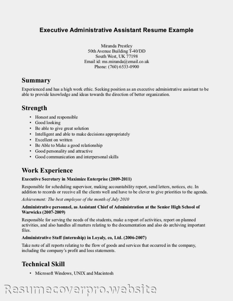 Resume Example For Healthcare Administration - Templates