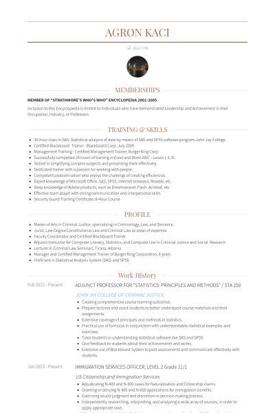 Principle Resume samples - VisualCV resume samples database