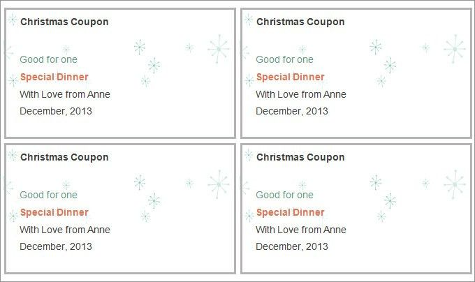 Blank Holiday Coupon Template Coupon Templates : Helloalive