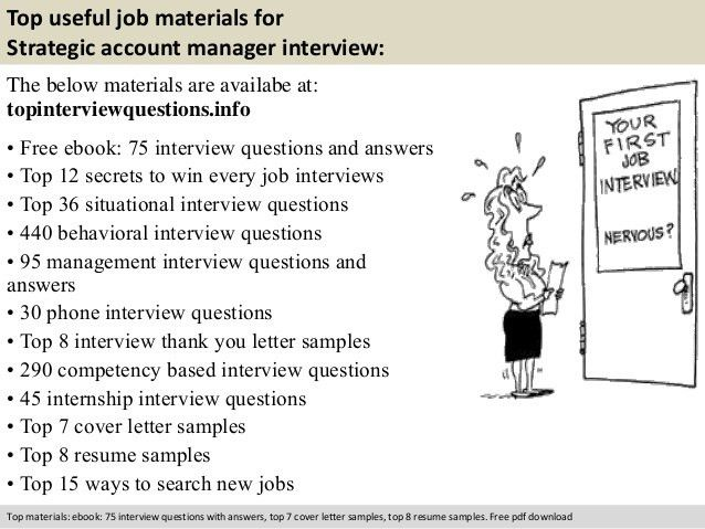 Strategic account manager interview questions