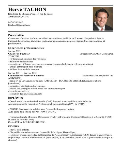 CV Chauffeur De Bus | Exemple CV Chauffeur De Bus | LiveCareer
