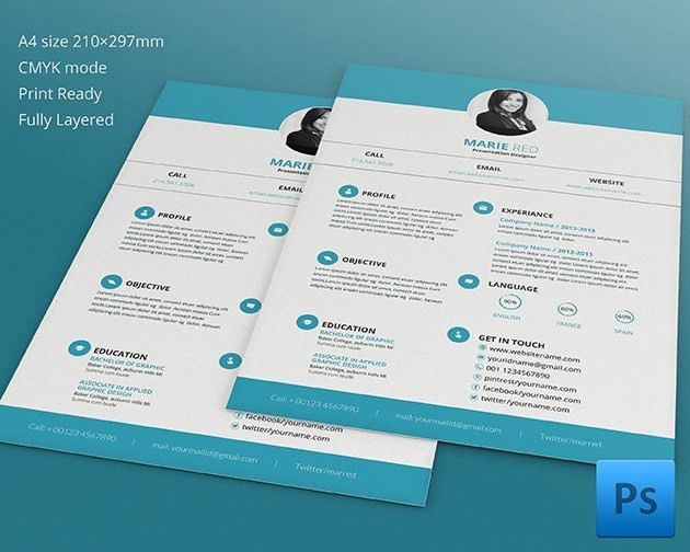 Resume Template - 92+ Free Word, Excel, PDF, PSD Format Download ...
