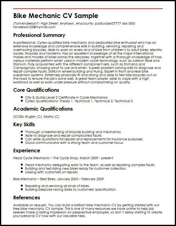 mechanic resume example unforgettable automotive technician