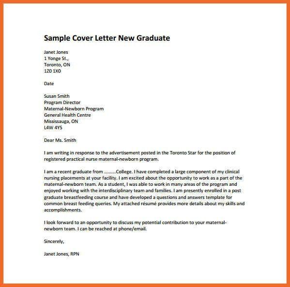nursing cover letter | sop example