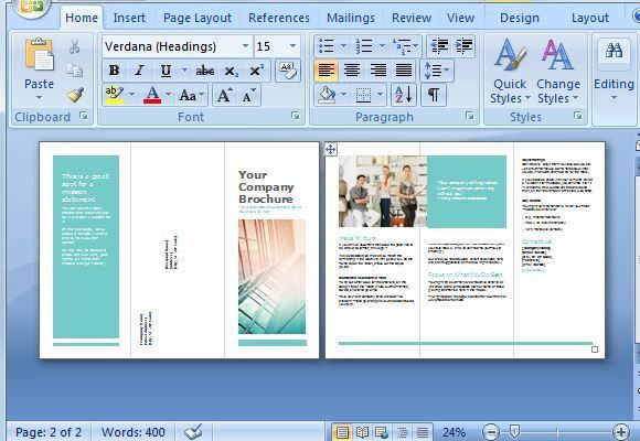 Free Brochure Maker Template for MS Word