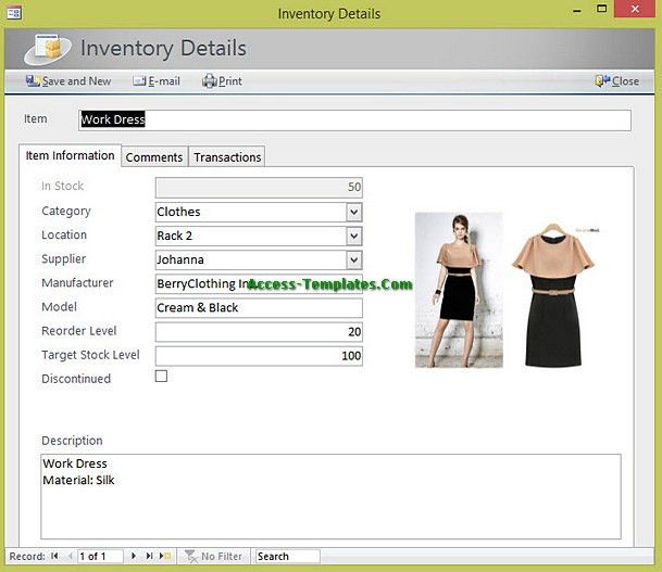 Inventory Management for Small Business Access Database Templates ...
