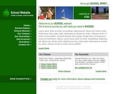 Free website templates with Education_Science theme - 1