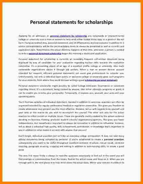 8+ example of personal statement for scholarship application ...