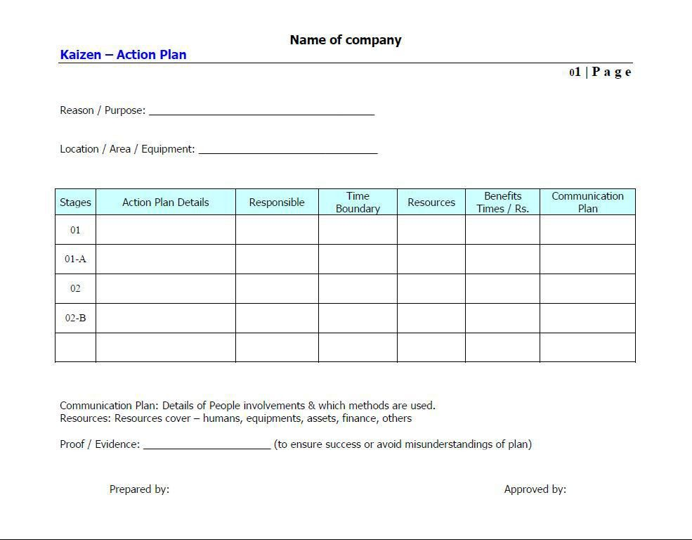 Sample School Action Plan. Action Plan Template - 9+ Download ...