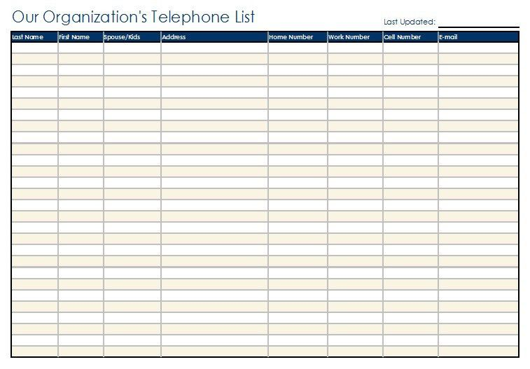 6 Free Sample Staff Contact List Templates – OpenOffice Calc Templates