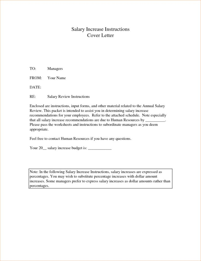 Free Printable Salary Increase Letter Template Cover Letter : Vatansun
