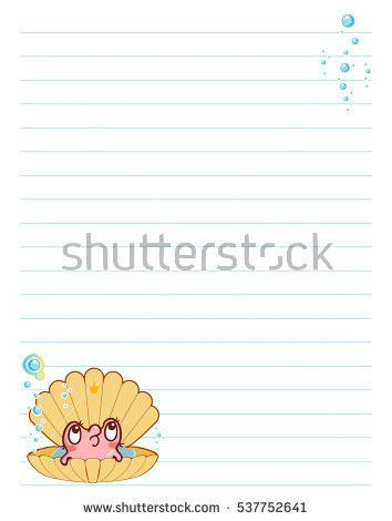 Vector Printing Paper Note Cute Paper Stock Vector 537752647 ...