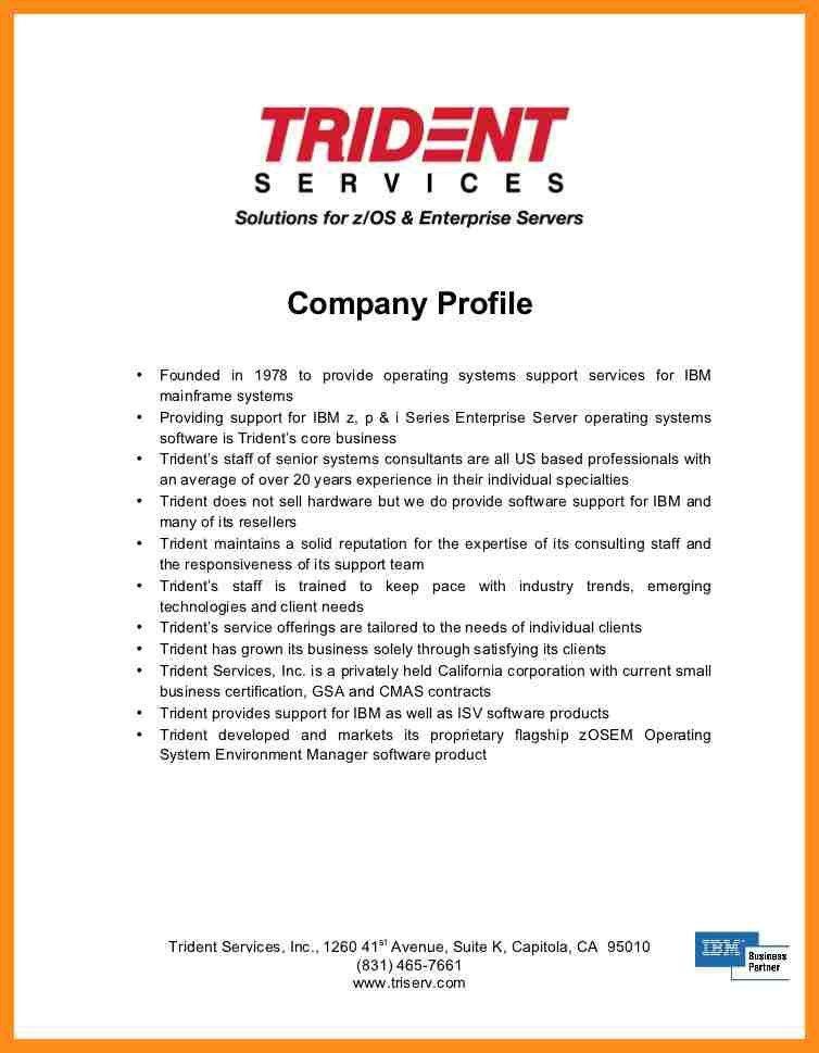 Company Profile Sample. 2 1 Company Profile Template Company ...