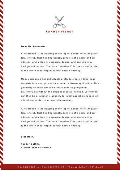 Maroon Fisher Personal Letterhead - Templates by Canva