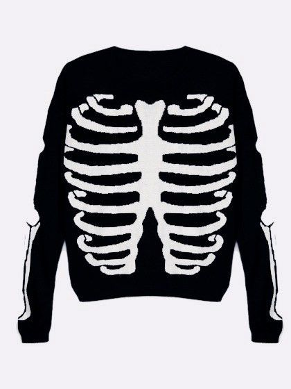 Halloween Clothes skeleton clothing sweatshirt 8 Harajuku Fashion ...