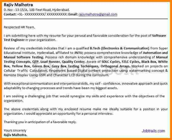 Cover letter for job application email sample for freshers