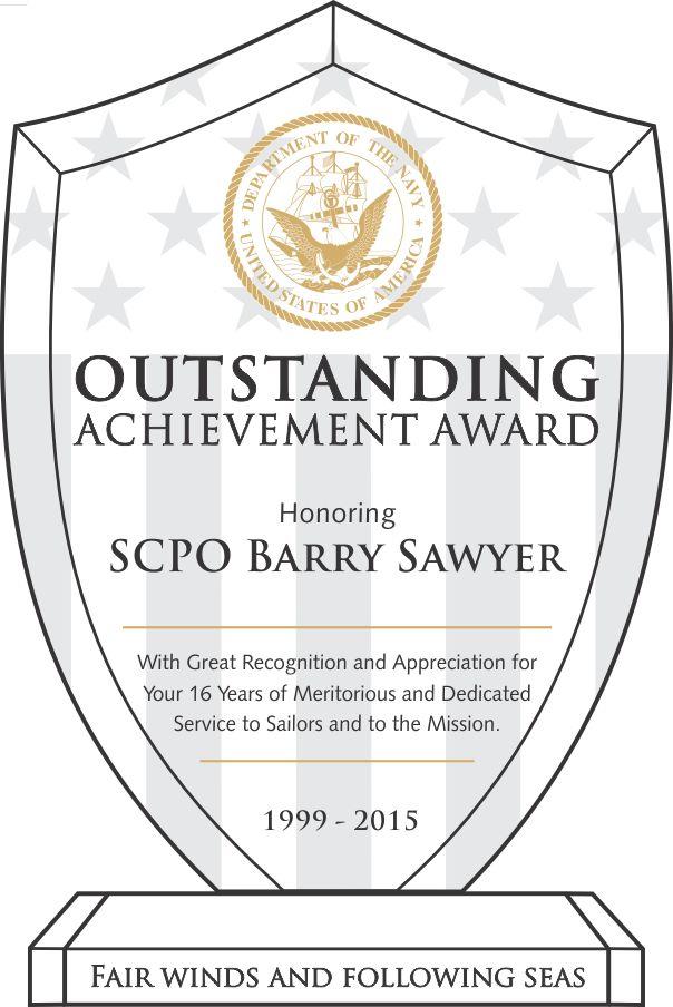 Navy Recognition Award Wording (#330-1) | Wording Ideas | DIY Awards
