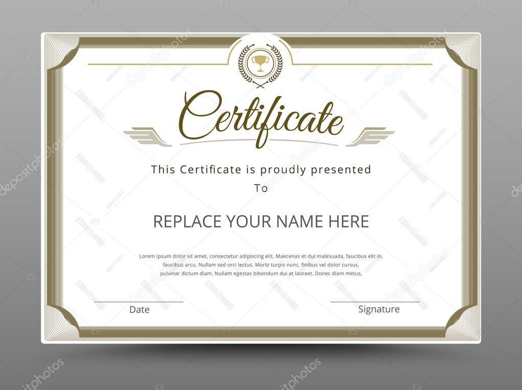 Elegant certificate template. Business certificate formal theme ...