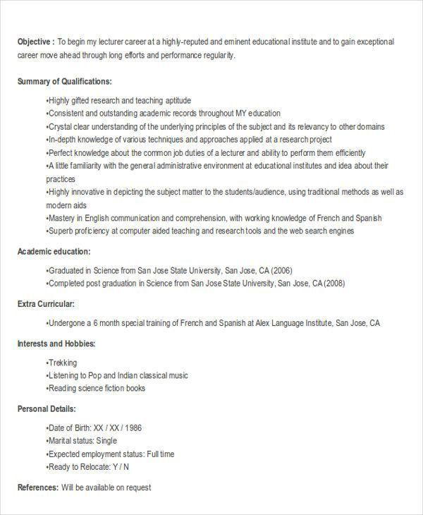 21+ Fresher Resume Templates | Free & Premium Templates