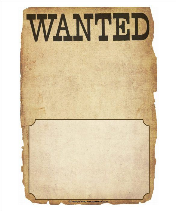 Wanted poster template word free