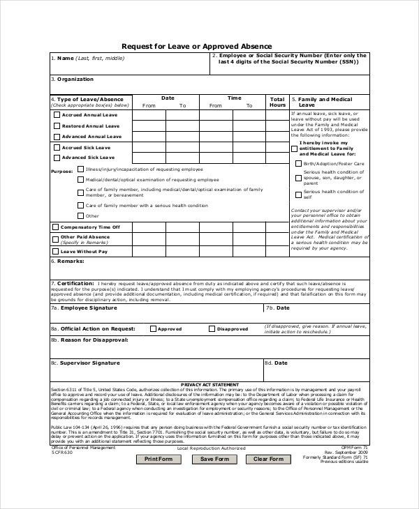 Medical Leave Letter - 5+ Free Word, Excel, PDF Documents Download ...