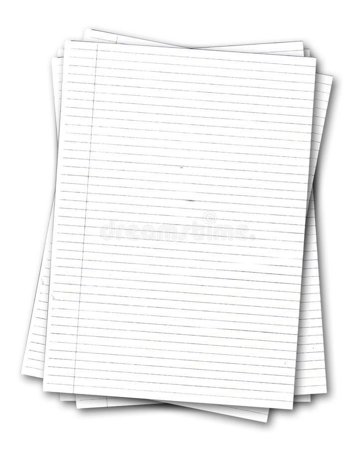 Stack Of Old Lined Papers Stock Image - Image: 10550001