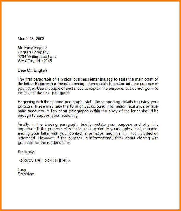 Sample Business Letters. Example Business Complaint Letter ...