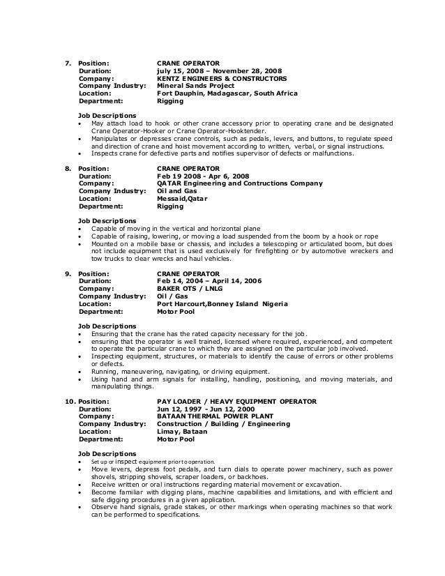guila resume crane operator