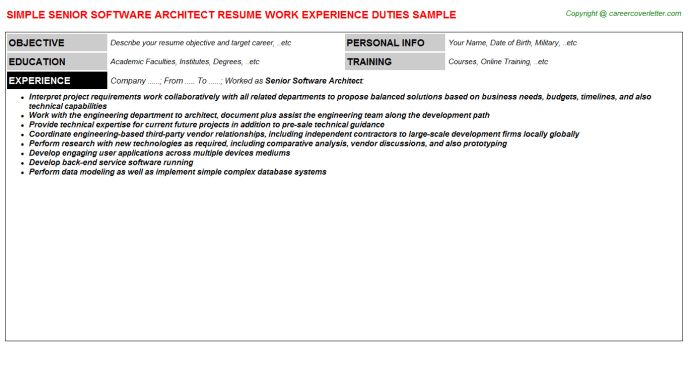 Servicenow Architect Resumes Samples