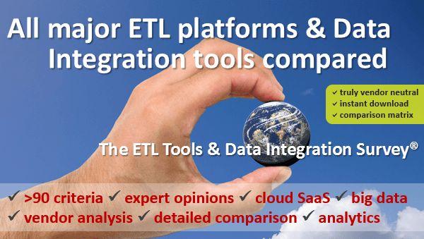 Complete list of 22 ETL tools | 100% vendor neutral survey