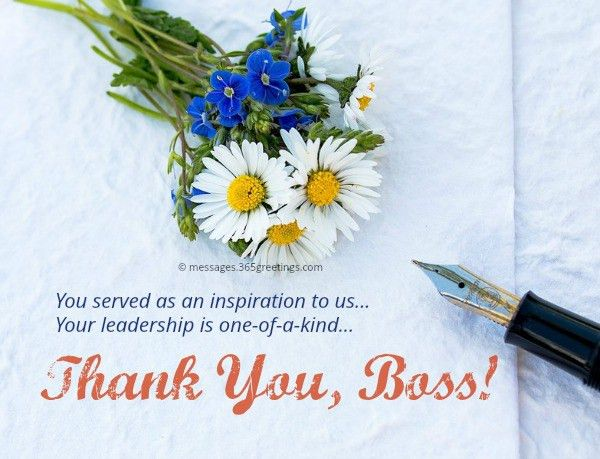 Thank You Messages for Boss - 365greetings.com