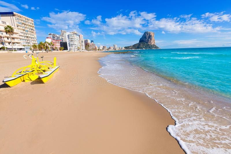 Calpe Playa Arenal Bol Beach Alicante Royalty Free Stock Image ...