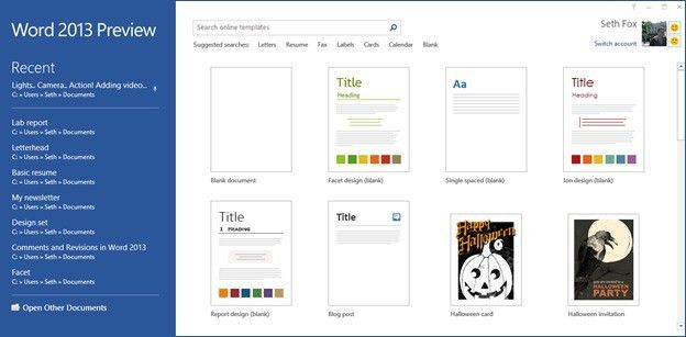 Starting from blank: Design templates in the Word 2013 - Office Blogs