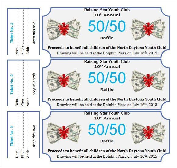 50/50 Raffle Flyer Template | fundraising | Pinterest | Flyer ...