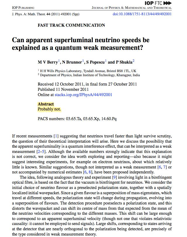 This may be the best scientific paper abstract ever written ...