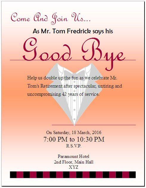 4 Free Sample Farewell Invitation Templates – OpenOffice Writer ...