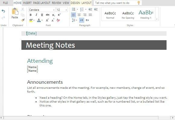 Meeting Minutes Templates For Word